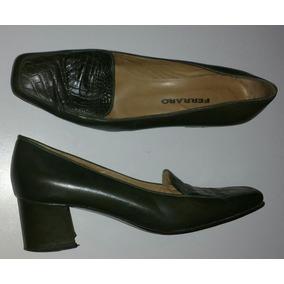 Zapatos Ferraro Mujer Cuero Vacuno 37 Fino Zpm2018