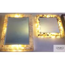 Espejos Ónix 60x60 45x65 Y Redondo 60cm Onix Cafe Sin Luz