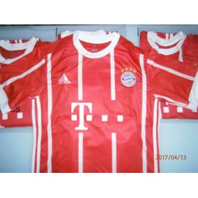 Camiseta Titular Roja O Supte Negra Bayer Munich Nueva 2017
