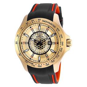 Relógio Invicta Speedway 25345 Banhado Ouro 18k 48mm !