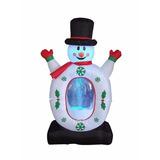 Muñeco Inflable Snowman Snowflake P/ Navidad - 1.22mts
