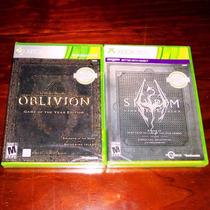 Lote 2 Vj The Elder Scrolls Iv Oblivion Y V Skyrim Xbox 360