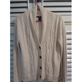 Sweater Saquito Chaleco Cuello Smoking Mujer Algodon Trenzad