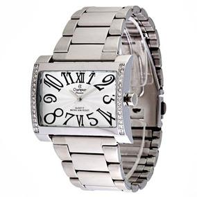f541936feb9 Relógio Champion Feminino Dourado Quadrado Passion Ch24124h ...