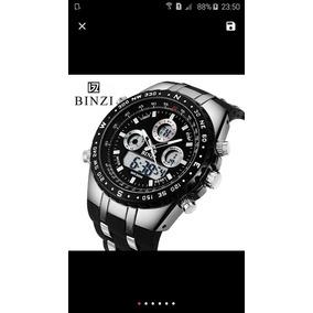 Relógio Mecânico Digital Lindo Com Caixa Maravilhosa