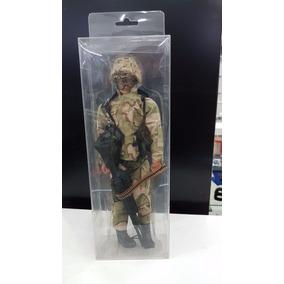 Miniatura Soldado Exercito Camuflado Claro Boneco Airsoft