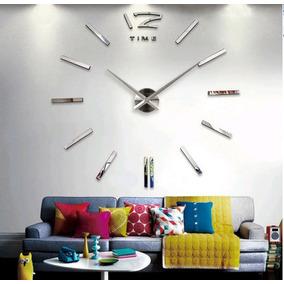 Relógio De Parede Metal Decorativo 3d - Frete Grátis