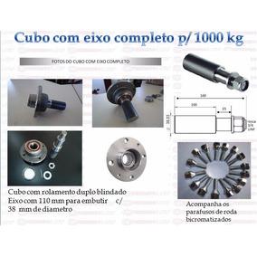 Par Cubo Com Eixo Para Carretinha - Capacidade Carga 1000 Kg