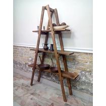 Escalera Decorativa Vintage, Mueble De Repisas Sala Comedor