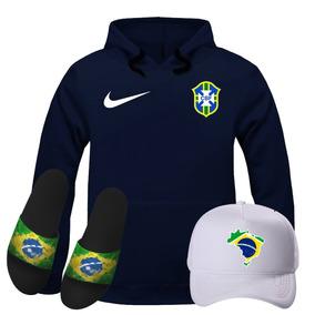 Bone Preto Seleção Brasileira - Moletom Azul marinho no Mercado ... 78bcde88c1a82