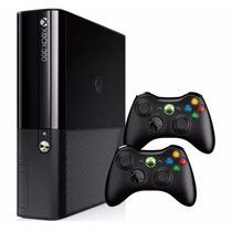 Console Xbox 360 Super Slim Bloq. 4gb____novo + 2 Controles