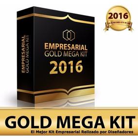 Mega Kit Imprimible Empresarial Gold + Curso Diseño Nuevo!!