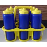 Squeeze Kit Com 6 Azul + Suporte G02 1litro Igual Gatorade