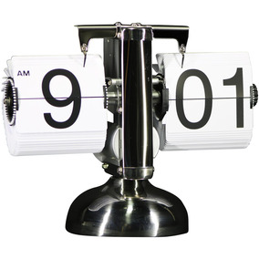 Reloj Retro Flip Clock De Mesa Vintage Decoración En Blanco