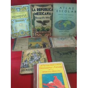 Libros Antiguos Primaria Geografia -1906 (8 Piezas)