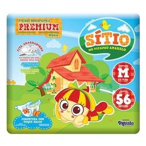 Kit Com 3 Fraldas Descartável Infantil Sitio Premium M