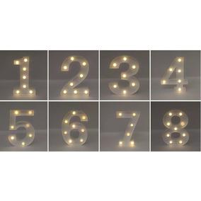 9 Numeros E Letras Led 3 D Luminosa De A - Z & E 0 A 9