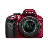 Nikon D3300 Dslr Cuerpo Rojo + 18-55mm Vr Ii Lens Kit...