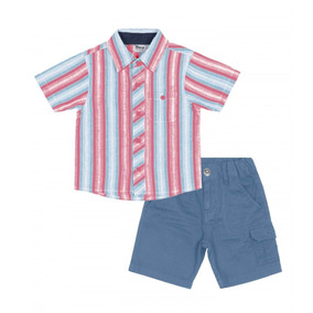 Conjunto Infantil Camisa Com Bermuda Maresias Trick Nick