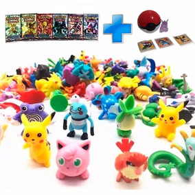 Figuras Pokemon Go 24 Pokemones Al Azar+ Cartas+ Pokebola