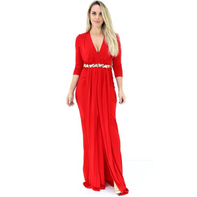 Vestido Lança Perfume Longo Vermelho I17