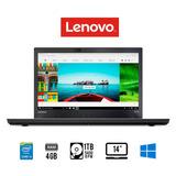 Laptop 14 Lenovo Thinkpad T470 Core I5 4gb 1tb Huella Win 10