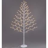 Arbolito De Navidad Con Luces Led Blanco 1.20