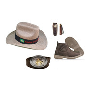 Botina Bota Country Infantil  + Cinto Cowboy + Chapéu Crianç