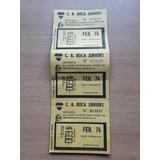 Ciudad Deportiva Boca Juniors Boleta De Deposito Feb 1974