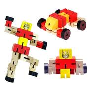 Muñeco Robot De Madera Articulado Transformers