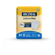 Fralda Bigfral Derma Plus Tamanho M - 8 Unidades