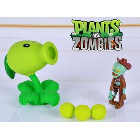 Boneco Plantas Vs Zumbis Zombie Miniatura Atira Ervilha