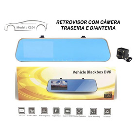 Espelho Retrovisor Tela 4 Full Hd Camera Re Camera Frontal