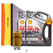 Kit 2 Filtros Vw Amarok + Aceite Shell 5w30 8 Lts Desde 2018