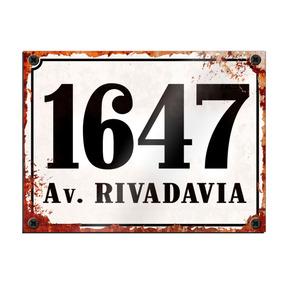 Placa De Dirección Chapa Numeración Vintage Retro 2givan