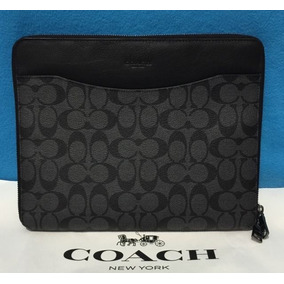 Coach Porta Macbook 12 Apple Laptop Piel Original Funda Neg