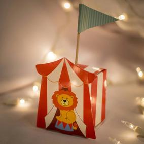 Cajitas Souvenir Circo Cumpleaños Infantiles