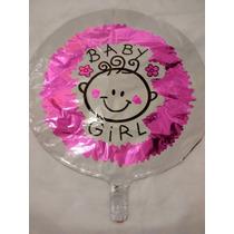 Balão Baby Girl - Chá De Bebê(45cm) - Pacote Com 10