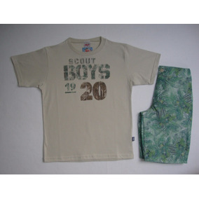 Conjunto Infantil Camiseta E Bermuda Elian Tamanho