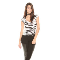 Saints Clothes Blusa Zebra Detalles Costados
