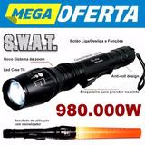 Lanterna Tática Police T6 1.080.000 Lumens Led Super Forte