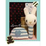 Sonajero + Gorro Crochet Regalo De Nacimiento Tejido A Mano