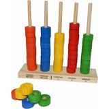 Ábaco Aberto Com 50 Argolas - Brinquedo Educativo