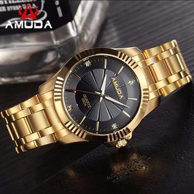 Relógios Masculinos Dourados Social Esportivo Inóxidavel