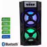Caixa De Som Bluetooth Portatil P2 Usb Rádio Fm Micro Sd 20w