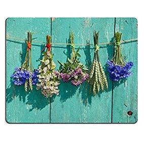 Msd Caucho Natural Juego Mousepad Flores Y Plantas De Cereal
