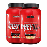 2x Whey Protein 100% Pure 907g - Integralmedica - Promoção
