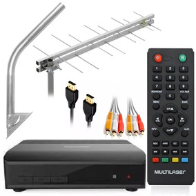 Kit Conversor Digital De Tv Gravador + Antena Externa 15dbi