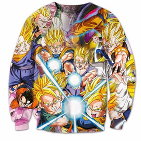 Sudadera Dragón Ball Z Kamehameha Goku Gohan 3d Hoodie