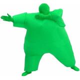 Fantasia Inflável Sumô Verde Gordo Pronta Entrega